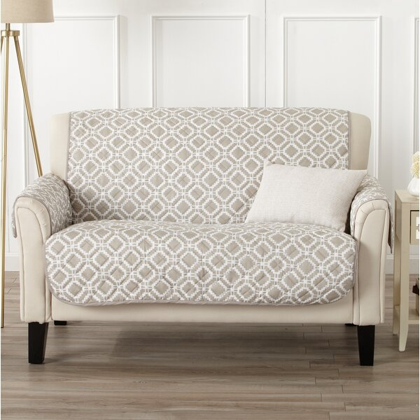 Box Cushion Loveseat Slipcover by George Oliver