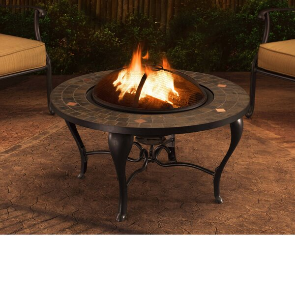 Sumpter Steel Wood Burning Fire Pit table by Sunjoy