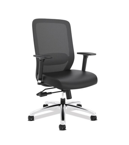 High-Back Mesh Leather Executive Chair by HON