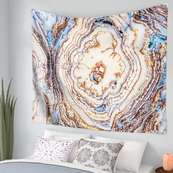 Crystal Agate Wall Tapestry by East Urban Home