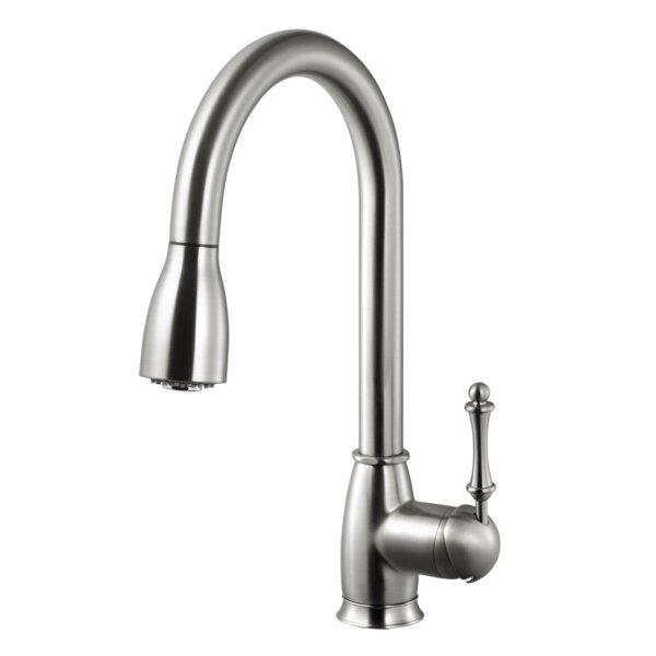 Camden Pull-down Single Handle Kitchen Faucet by Houzer