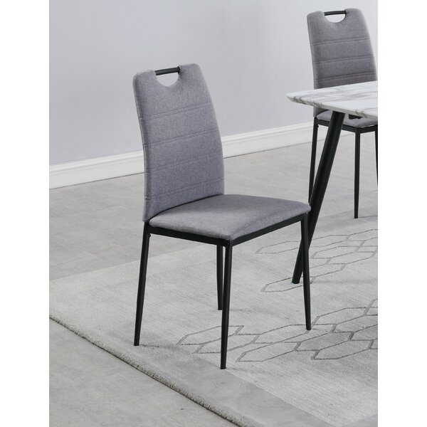 Belton Upholstered Dining Chair In Gray (Set Of 4) By George Oliver