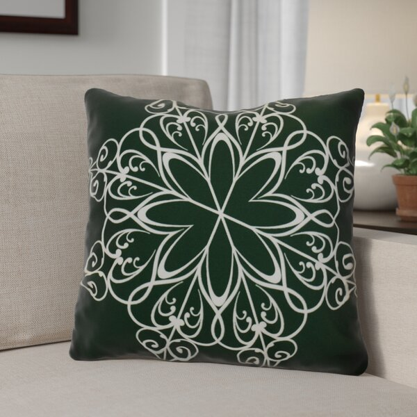 Decorative Snowflake Print Outdoor Throw Pillow by The Holiday Aisle