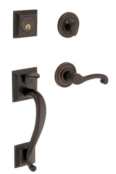 Madison Full Dummy Handleset with Interior Lever and Sectional Trim by Baldwin