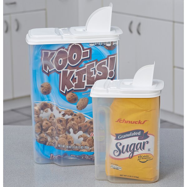 Multi-Use 2 Container Cereal Dispenser by Rebrilliant