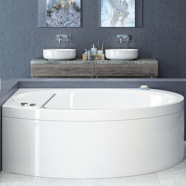 Suri-Wht™ 66.5 x 66.5 Corner Soaking Bathtub by Aquatica