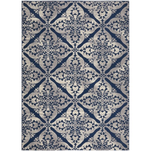 Anzell Blue/Gray Area Rug by Andover Mills
