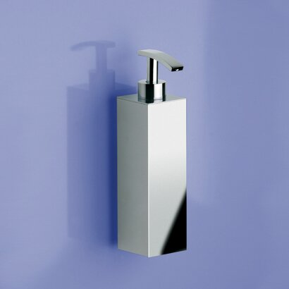 Tall Square Wall Mount Brass Soap Dispenser by Windisch by Nameeks