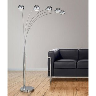 Read Reviews Orbs 85 Arched Floor Lamp By HomeTREND