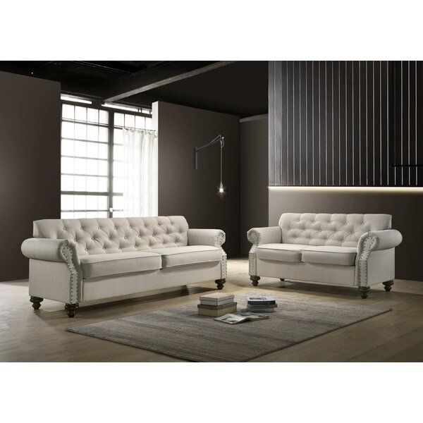 Severn Tufted 2 Piece Living Room Set by Canora Grey