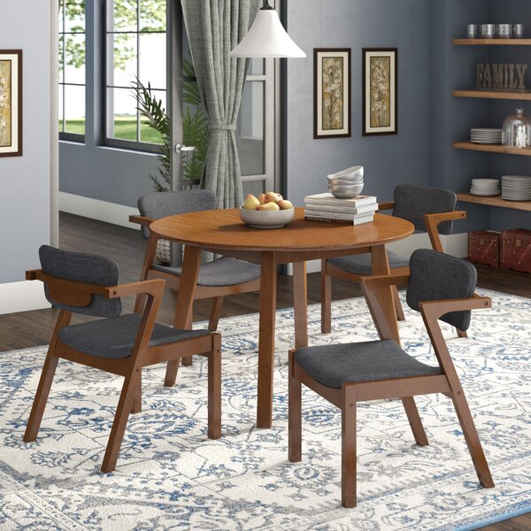 Lessman 5 Piece Solid Wood Dining Set by Union Rustic