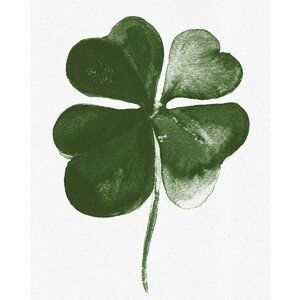 'Four Leaf Clover' Graphic Art Print on Canvas by Oliver Gal