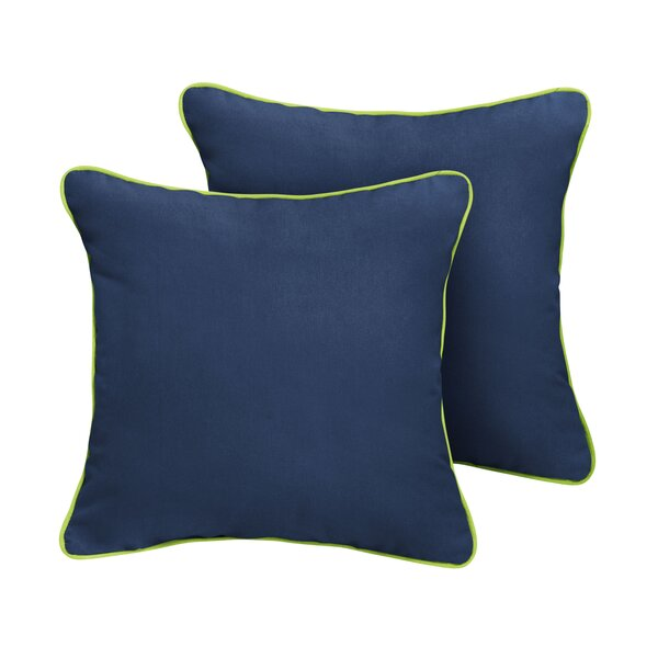 Ona Sunbrella Outdoor Throw Pillow (Set of 2) by Rosecliff Heights