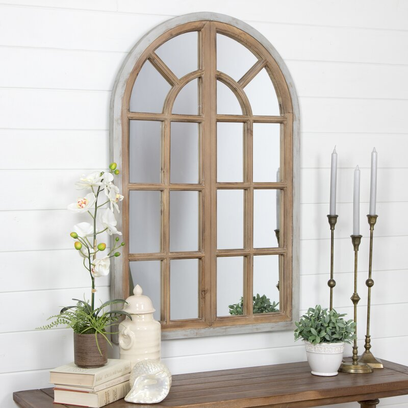 veltri farmhouse arch wall mirror reviews joss main. Black Bedroom Furniture Sets. Home Design Ideas