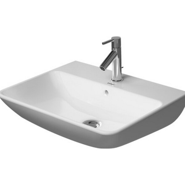 Starck Ceramic 24 Wall Mount Bathroom Sink with Overflow by Duravit
