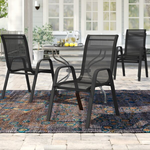 Kurz Stacking Patio Dining Chair (Set Of 5) By Charlton Home