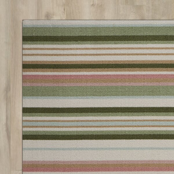 Vernon Green/Red Indoor/Outdoor Area Rug by Charlton Home