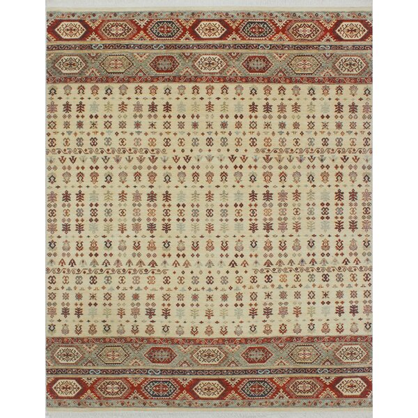 One-of-a-Kind Trevor Mishaal Hand-Knotted Wool Ivory Area Rug by Bloomsbury Market