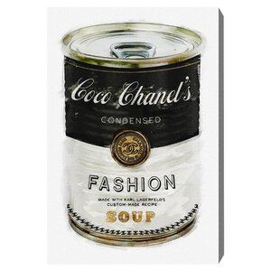 'Fashion Soup' Graphic Art Print on Canvas by Oliver Gal