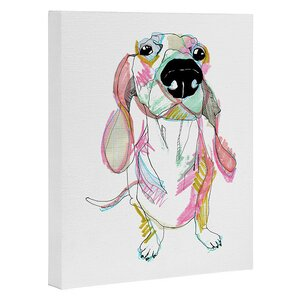'Sausage Dog' Painting Print on Wrapped Canvas by East Urban Home