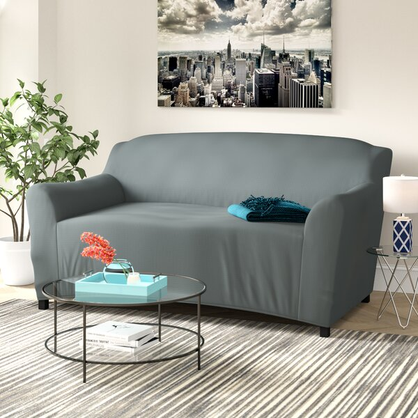 T-cushion Love Seat Slipcover by Ebern Designs