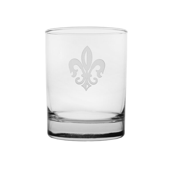 Grand Fleur De Lis 14 oz. Double Old Fashioned (Set of 4) by Rolf Glass