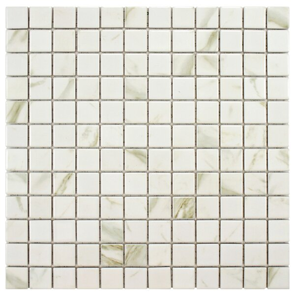 Oxford 0.9 x 0.9 Porcelain Mosaic Tile in White by EliteTile