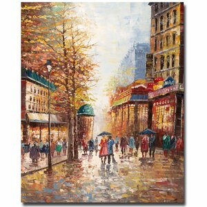 French Street Scene by Michelle Moate Painting Print on Wrapped Canvas by Trademark Fine Art