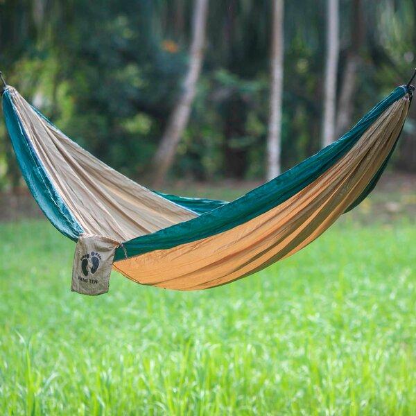 Single Parachute Nylon Camping Hammock by Novica