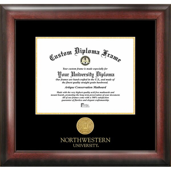NCAA Northwestern University Gold Embossed Diploma Picture Frame by Campus Images