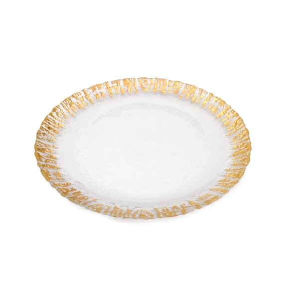 Trophy Scalloped Plate (Set of 4) by Classic Touch