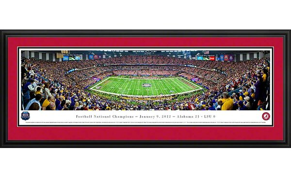 NCAA BCS Football Championship 2012 Deluxe Framed Photographic Print by Blakeway Worldwide Panoramas, Inc