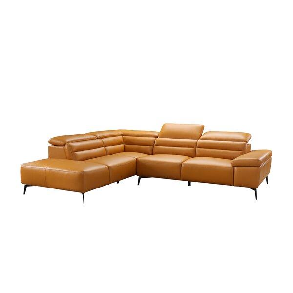 Kean Leather Sectional by Orren Ellis