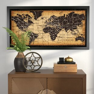 World map wall art old world map framed graphic art gumiabroncs Image collections