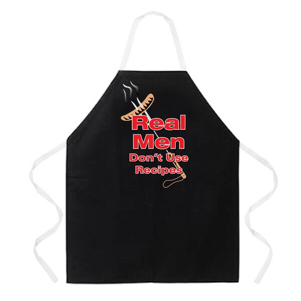 Real Men Apron by East Urban Home
