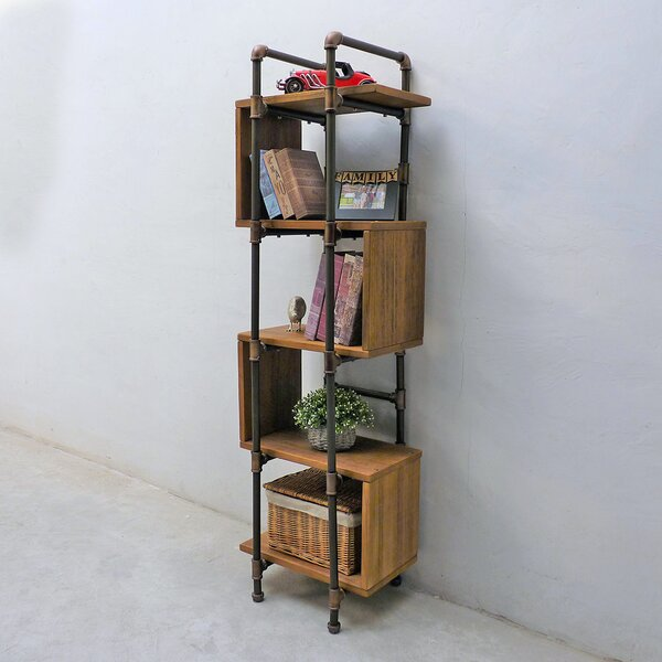 Cisneros Modern Industrial Etagere Bookcase by Williston Forge