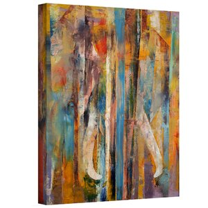 'Elephant' Painting Print on Wrapped Canvas by Zipcode Design