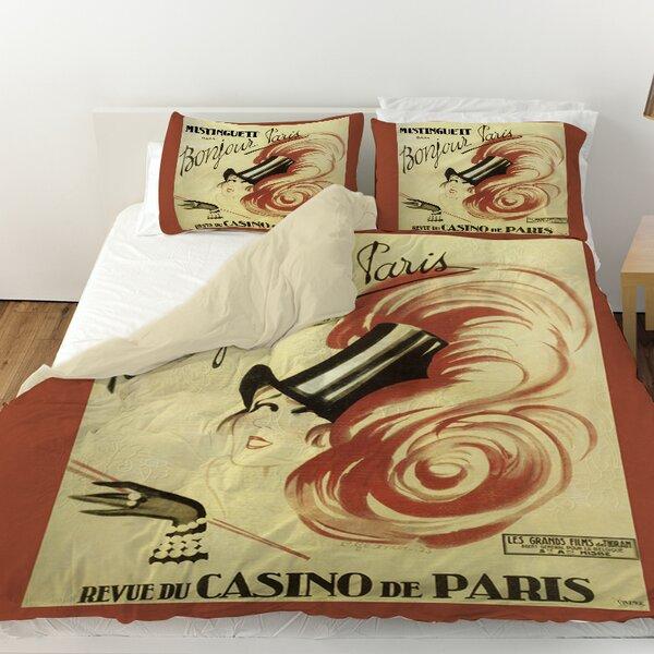 Bonjour Paris Duvet Cover By Manual Woodworkers & Weavers.