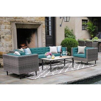 Brayden Studio Deep Sunbrella Sofa Set Cushions Cushion Color Seating Groups