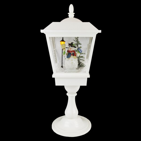 Lighted Musical Snowman Snowing Table Top Christmas Street Lamp by Northlight Seasonal
