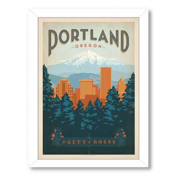 Portland Oregon Framed Vintage Advertisement by East Urban Home
