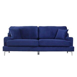 Ultra Modern Plush Velvet Living Room Sofa by Madison Home USA
