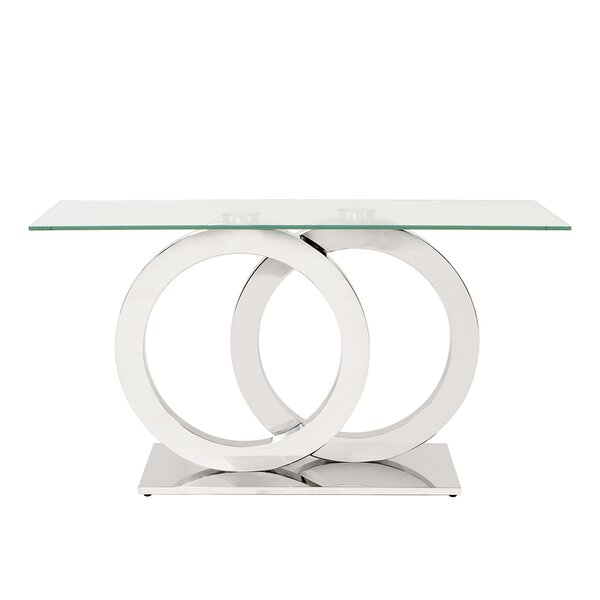 Langer Stainless Steel Console Table by Orren Ellis