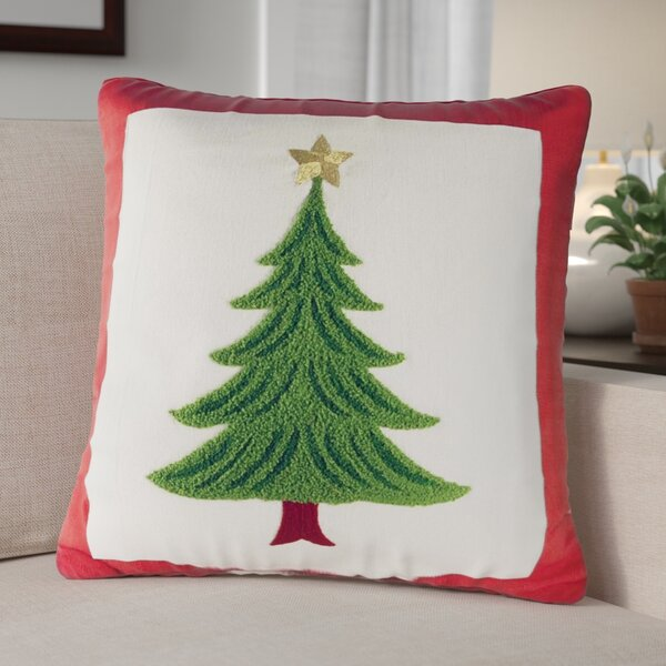 Evergreen Cotton Throw Pillow by The Holiday Aisle