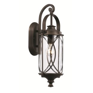 Price comparison Ginsburg 1-Light Outdoor Wall Lantern By Bungalow Rose