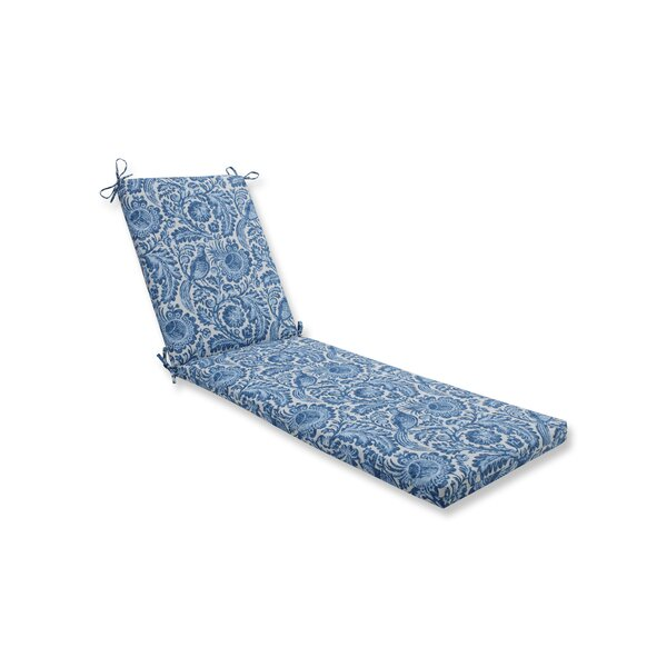 Tucker Resist Azure Indoor/Outdoor Chaise Lounge Cushion by Ophelia & Co.
