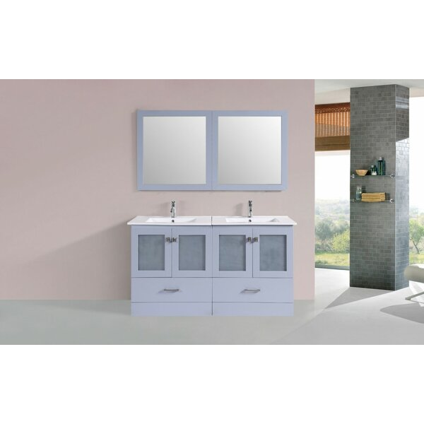 Lapoint Modern 60 Double Bathroom Vanity Set with Mirror by Latitude Run
