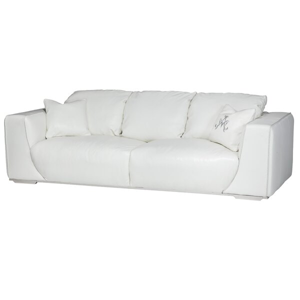 Mia Bella Sophia Mansion Leather Sofa by Michael Amini