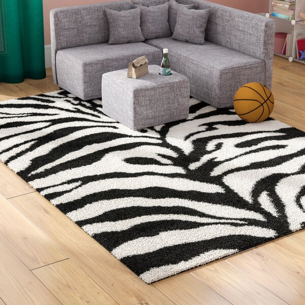 Davey Ivory/Black Area Rug by Viv + Rae