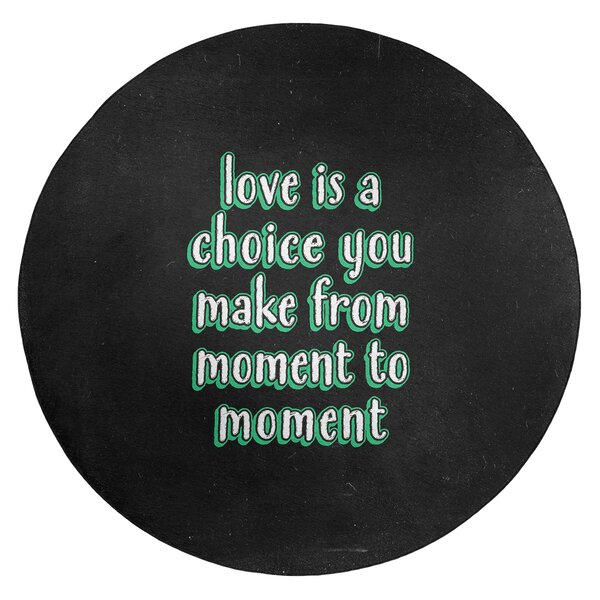 Love Is A Choice Quote Chalkboard Style Poly Chenille Rug
